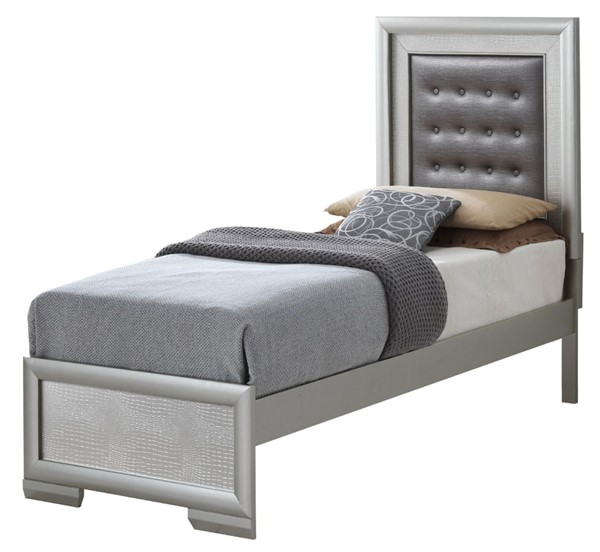 Glory Furniture Kat Silver Champagne Twin Bed GLRY-G5600A-TB