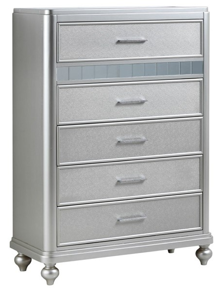 Glory Furniture Paulina Contemporary Silver Champagne Chest GLRY-G5700-CH