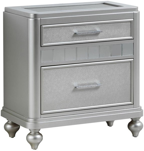 Glory Furniture Paulina Contemporary Silver Champagne Nightstand GLRY-G5700-N