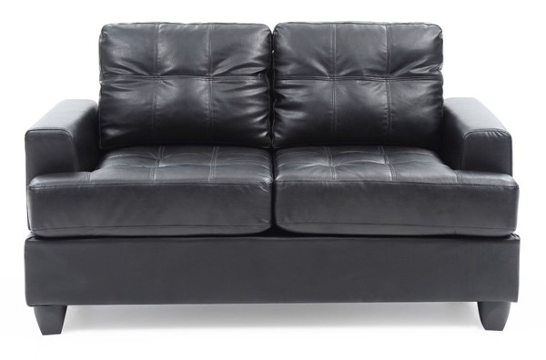 Glory Furniture Sandridge Transitional Black PU Loveseat GLRY-G583A-L