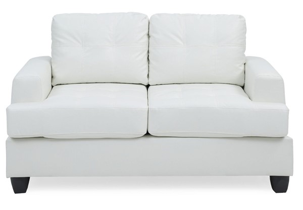 Glory Furniture Sandridge Transitional White Loveseat GLRY-G587A-L