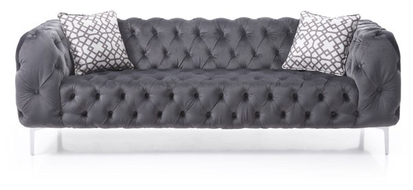 Glory Furniture Astoria Transitional Gray Sofa GLRY-G594-S