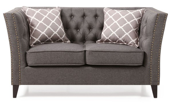 Glory Furniture Flair Transitional Gray Love Seat GLRY-G600-L