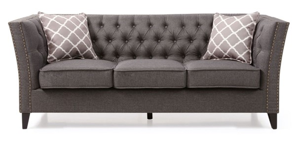 Glory Furniture Flair Transitional Gray Sofa GLRY-G600-S