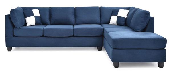 Glory Furniture Malone Contemporary Navy Blue Sectionals GLRY-G64B-SEC-VAR