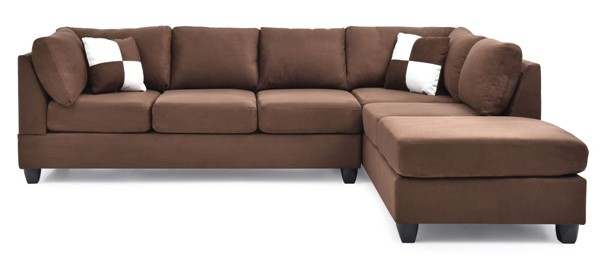 Glory Furniture Malone Contemporary Chocolate Sectional GLRY-G632B-SC