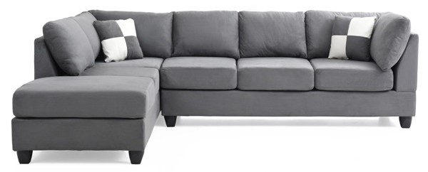 Glory Furniture Malone Contemporary Gray Sectional GLRY-G633B-SC