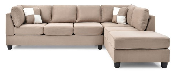 Glory Furniture Malone Mocha Sectional GLRY-G634B-SC