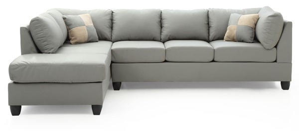 Glory Furniture Malone Contemporary Gray Faux Leather Sectional GLRY-G642B-SC