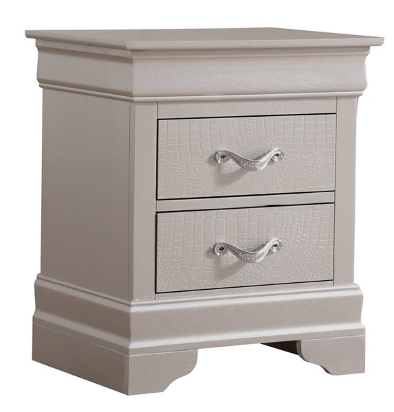 Glory Furniture Lorana Silver Champagne Nightstand GLRY-G6500-N