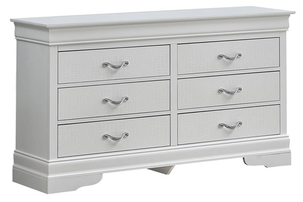 Glory Furniture Lorana White Pearl Dresser GLRY-G6590-D