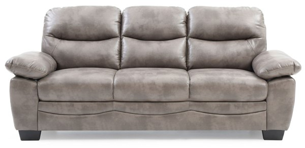 Glory Furniture Marta Gray Faux Leather Sofa GLRY-G676-S