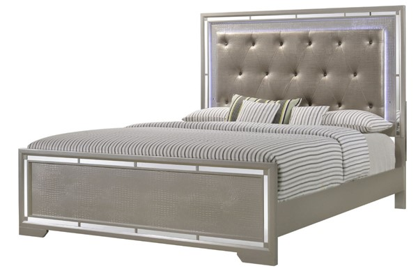 Glory Furniture Alana Traditional Silver Champagne King Bed GLRY-G6800A-KB