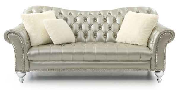 Glory Furniture Woodbridge Contemporary Gold Silver Sofa GLRY-G704-S