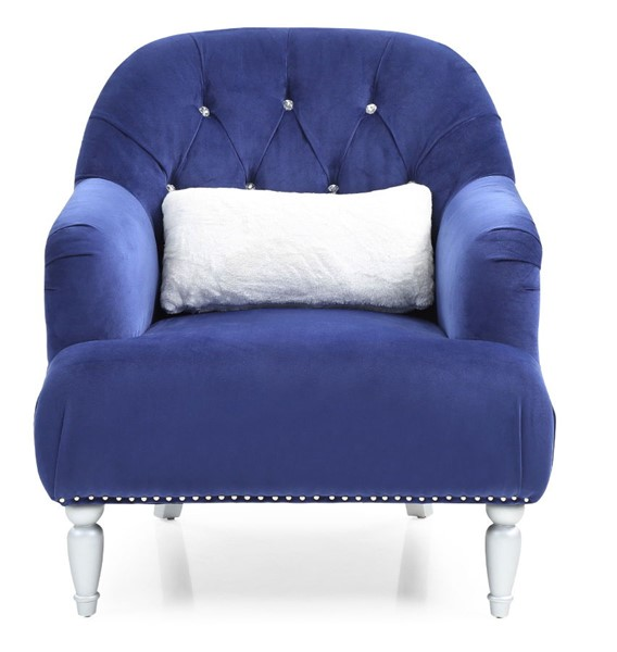 Glory Furniture Jewel Traditional Blue Chair GLRY-G750-C