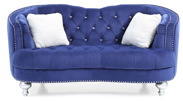 Glory Furniture Jewel Traditional Blue Loveseat GLRY-G750-L