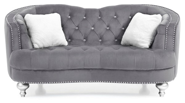 Glory Furniture Jewel Traditional Gray Loveseat GLRY-G755-L