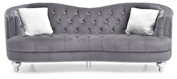 Glory Furniture Jewel Traditional Gray Sofa GLRY-G755-S