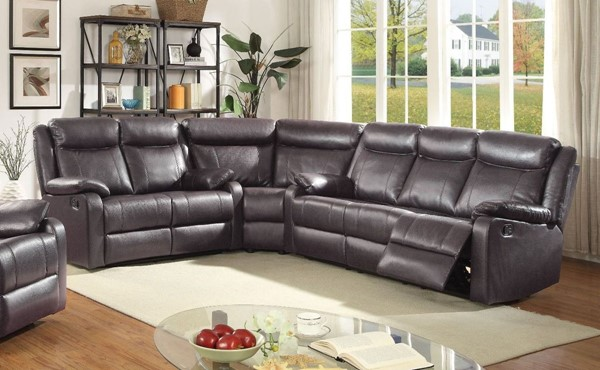Glory Furniture Ward Contemporary Dark Brown 3pc Sectionals GLRY-G760-SEC-S-VAR