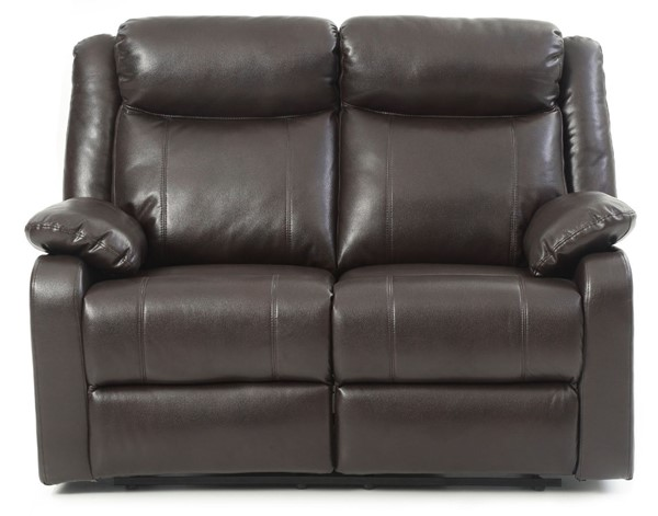 Glory Furniture Ward Dark Brown Faux Leather Double Reclining Love Seat GLRY-G760A-RL