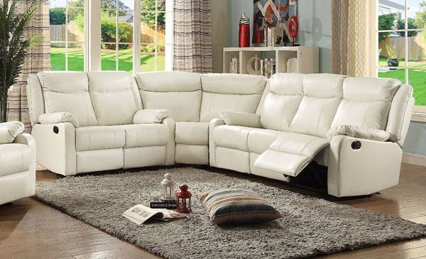 Glory Furniture Ward Contemporary Pearl 3pc Sectional GLRY-G762-SEC-S3