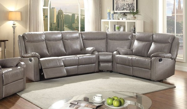 Glory Furniture Ward Contemporary Gray 3pc Sectional GLRY-G763-SEC-S4