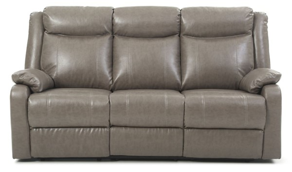 Glory Furniture Ward Gray Faux Leather Double Reclining Sofa GLRY-G763A-RS