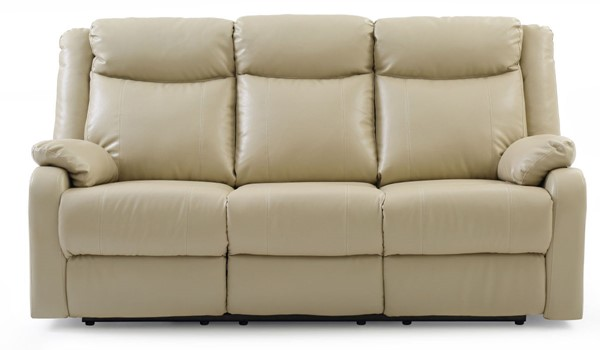 Glory Furniture Ward Putty Faux Leather Double Reclining Sofa GLRY-G764A-RS