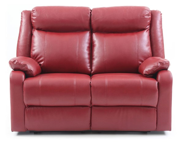 Glory Furniture Ward Red Faux Leather Double Reclining Love Seat GLRY-G765A-RL