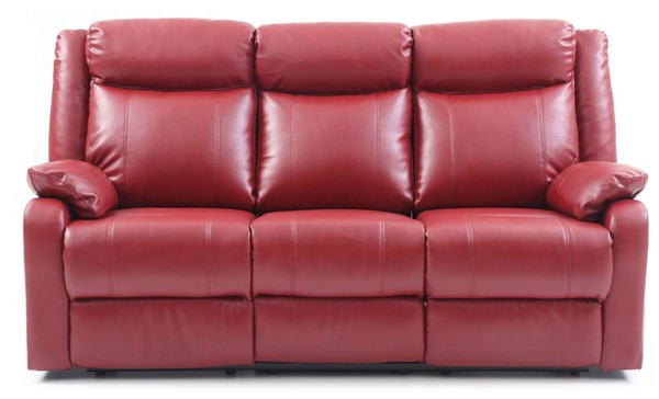 Glory Furniture Ward Contemporary Red Double Reclining Sofa GLRY-G765A-RS