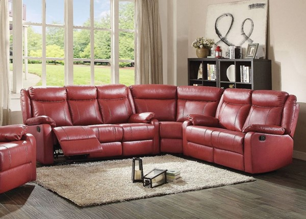 Glory Furniture Ward Contemporary Red 3pc Sectional GLRY-G765A-SEC-S6