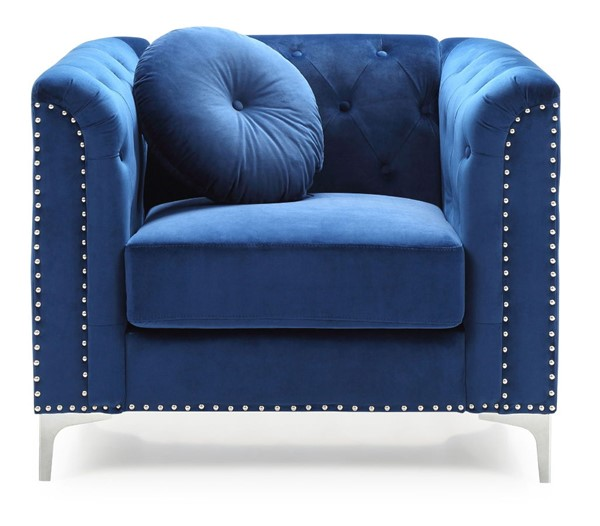Glory Furniture Pompano Contemporary Navy Blue Chair GLRY-G781A-C