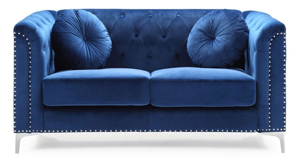 Glory Furniture Pompano Contemporary Navy Blue Loveseat GLRY-G781A-L