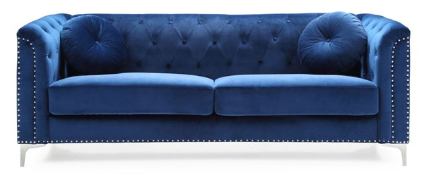 Glory Furniture Pompano Contemporary Navy Blue Sofas GLRY-G78A-SF-VAR