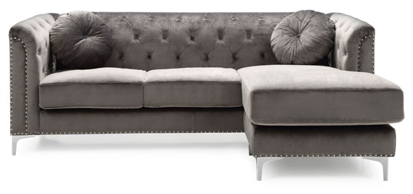 Glory Furniture Pompano Contemporary Dark Gray Sofa Chaise GLRY-G782B-SC