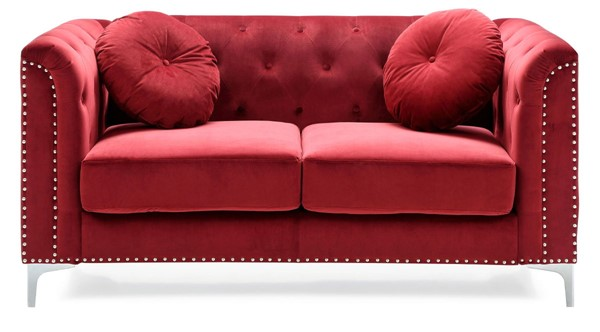 Glory Furniture Pompano Contemporary Burgundy Loveseat GLRY-G789A-L