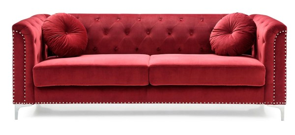 Glory Furniture Pompano Contemporary Burgundy Sofa GLRY-G789A-S