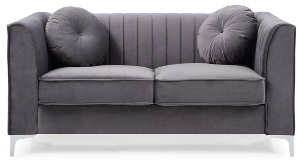 Glory Furniture Delray Contemporary Gray Loveseats GLRY-G79-LS-VAR