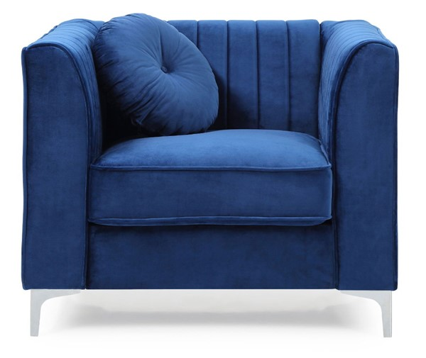Glory Furniture Delray Contemporary Navy Blue Chair GLRY-G791A-C