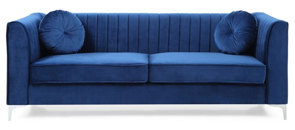 Glory Furniture Delray Contemporary Navy Blue Sofa GLRY-G791A-S