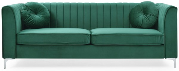 Glory Furniture Delray Green Velvet Microsuede Sofa GLRY-G792A-S