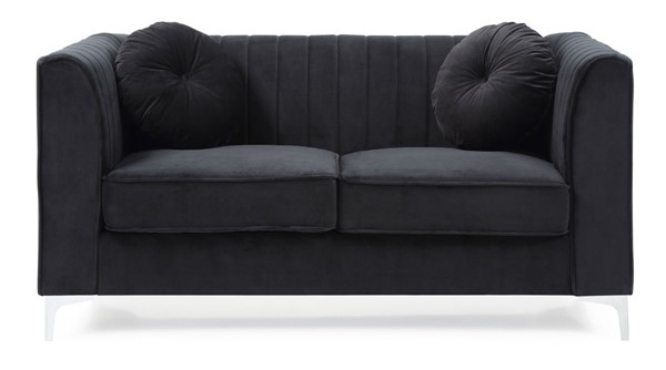 Glory Furniture Delray Contemporary Black Loveseat GLRY-G793A-L