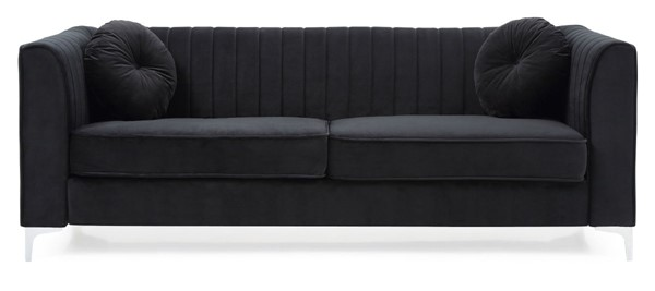 Glory Furniture Delray Black Velvet Microsuede Sofa GLRY-G793A-S