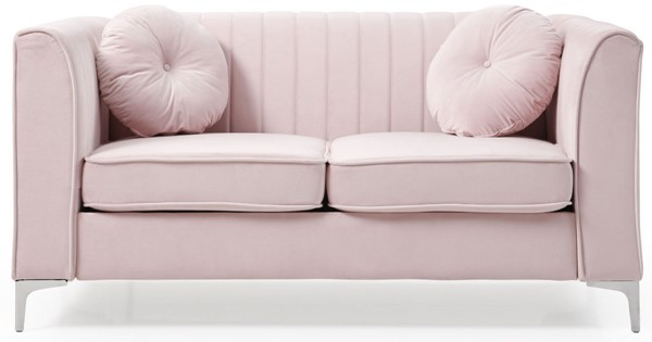 Glory Furniture Delray Pink Velvet Microsuede Loveseat GLRY-G794A-L