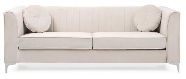 Glory Furniture Delray Ivory Velvet Microsuede Sofa GLRY-G797A-S