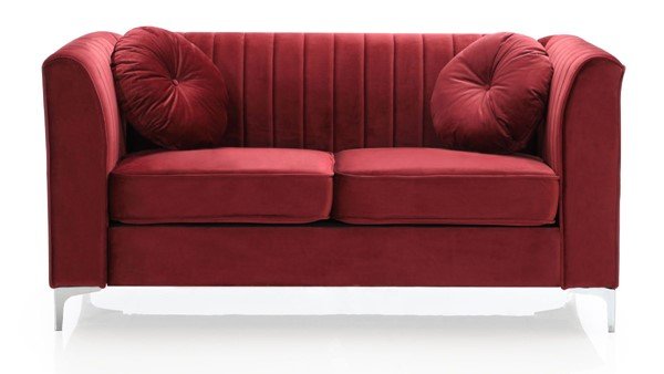 Glory Furniture Delray Contemporary Burgundy Loveseat GLRY-G799A-L