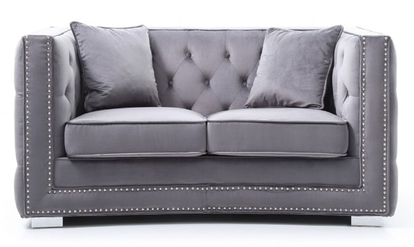 Glory Furniture Miami Transitional Gray Loveseat GLRY-G800-L