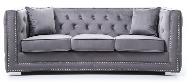Glory Furniture Miami Transitional Gray Sofas GLRY-G80-S-SF-VAR