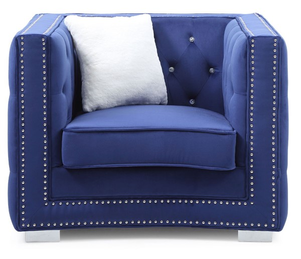 Glory Furniture Miami Transitional Blue Chair GLRY-G801-C