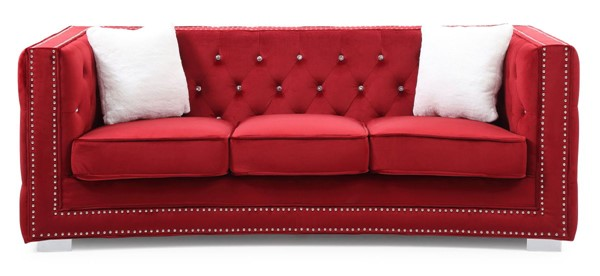 Glory Furniture Miami Transitional Red Sofa GLRY-G809-S